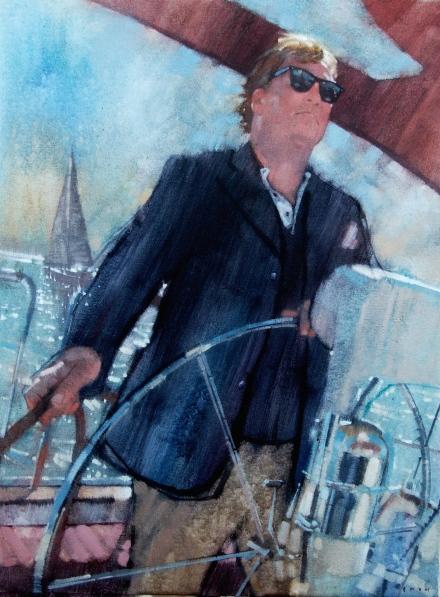 """Captain Hart, 18"""" x 24"""", oil on canvas"""