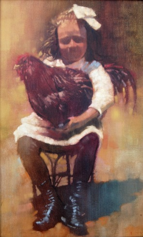 Girl and Rooster